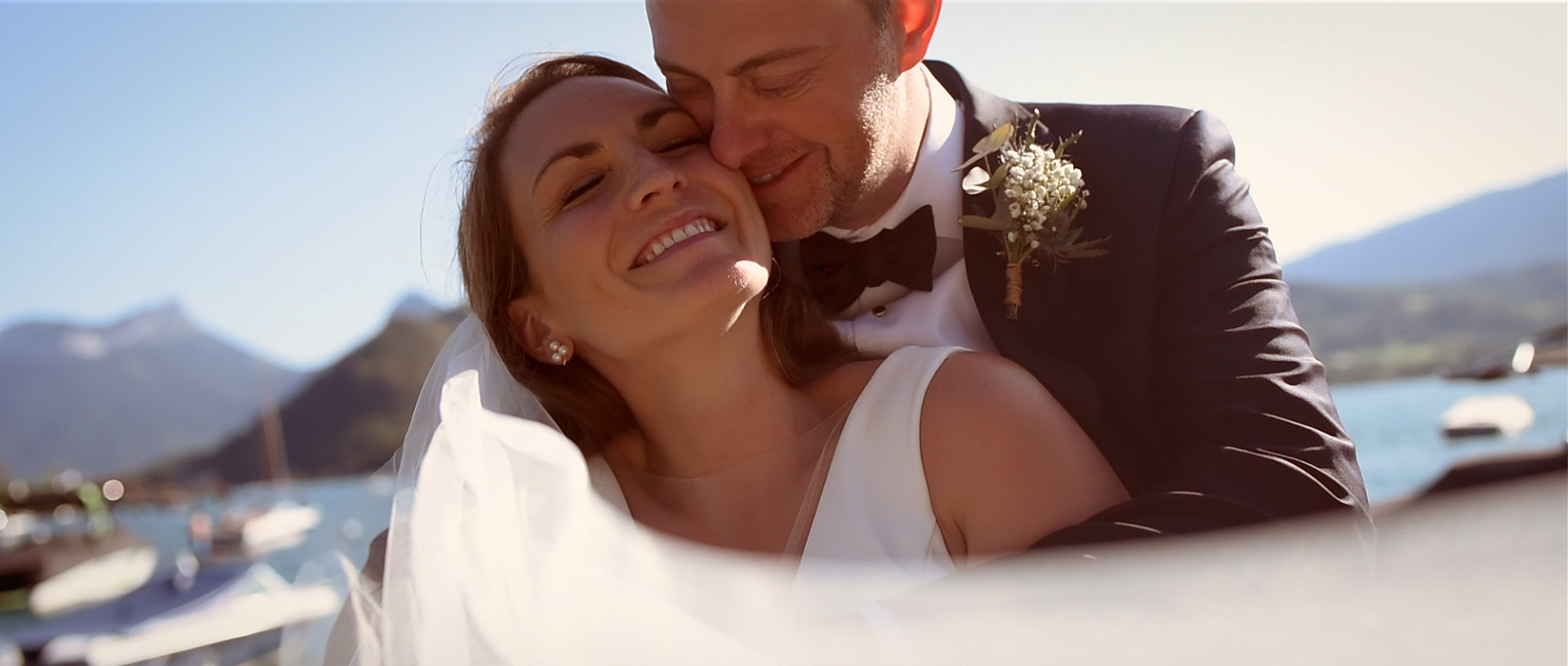 wedding videographer - Elopement Lake Annecy - Hôtel Yoann Conte - Destination wedding France